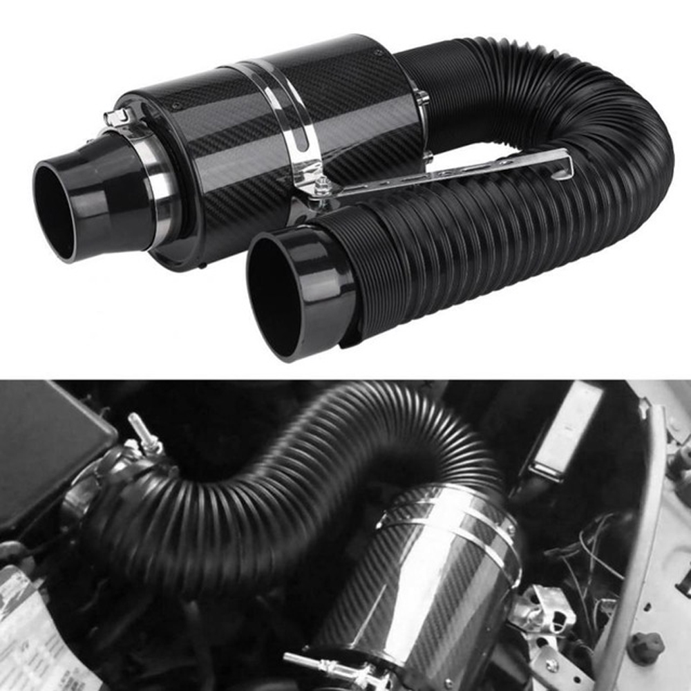Image 3 - Car Cold Air Filter Induction Kit High Flow Ducting Intake Admission Bent Stretch Tube Intake Induction Pipe Hose Kit Universal-in Air Intakes from Automobiles & Motorcycles