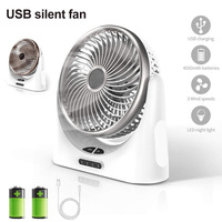 Hot New Small Table Desk Fan USB Rechargeable Portable for Home Office Outdoor Traveling HY99