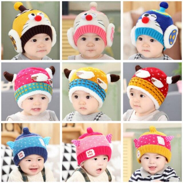 100+ 2019 Baby Hats Pom Pom Knit Hat Girls Boys Beanie Winter ... 587ed866916b