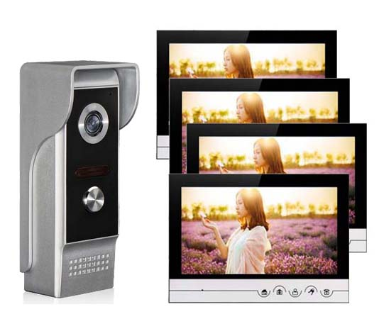 XINSILU Intercom Doorbell Home Security System 9Color Video Door Phone Touch Key Monitor w/t SD Card Slot IR HD Camera 1V4