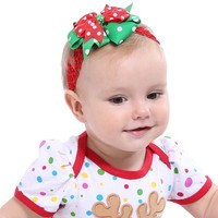 12 16Pcs Christmas New Fashion Lovely Wild Children Baby Girl Hair Accessories Barrettes Headwear Headband Flower