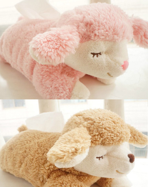 Candice guo! creative plush toy cute sweet sleeping sheep tissue box cover home car paper towel case birthday Christmas gift 1pc candice guo so funny plush toy cute creative corgi hip shiba dog arse crossbody bag wallet girls birthday christmas gift 1pc