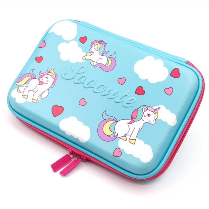 Kiss Buty Unicorn Minecraft Pencil Case Cartoon My World Multifunction Big Pencilcase Pen Box EVA School Stationery Bag Pouch free shipping big feet eva pencil case multifunctional pen curtain pencil box elementary student school stationery supplies