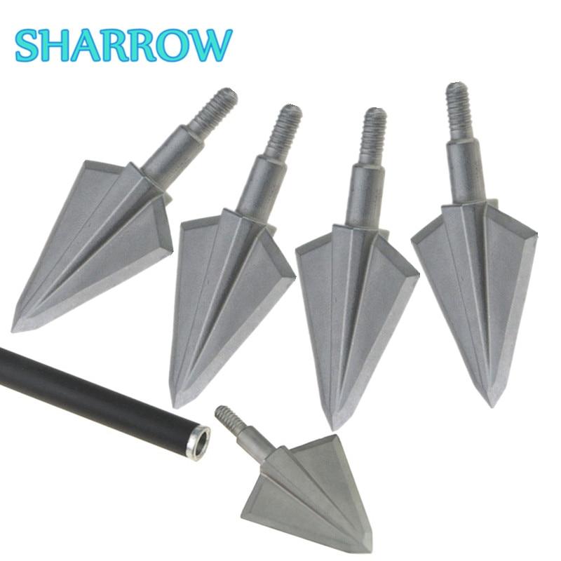 Archery Arrows Broadheads Metal Sharp 2 Fixed Blade Arrowheads Screw-In Tips