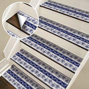 Image 2 - Chaude 2 pièces Style bohême escalier autocollants, PVC bricolage autocollant de sol, Stickers muraux pour la décoration de la maison salle de bain et cuisine