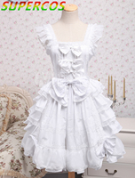 Free shipping! New Arrivals! High Quality ! Cotton Lolita Dress With Bows & Ruffles