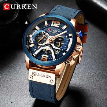 Top Brand Luxury CURREN Chronograph Mens Watches Waterproof Sport Quartz Watch Men Clock Man Wristwatch Famous Relogio Masculino - DISCOUNT ITEM  80% OFF All Category