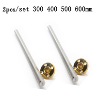 2pcs T8 Pitch 8mm Trapezoidal Lead Screw Rods 300 400 500 600mm Brass Copper Nuts M6