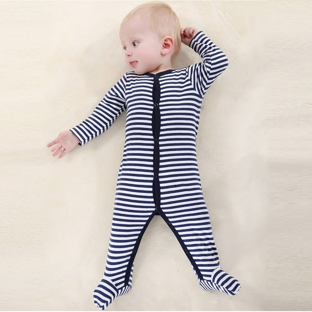 680b5917b2b New 2018 cute stripe baby rompers jumpsuit comfortable clothing for new  born babies 0-12m