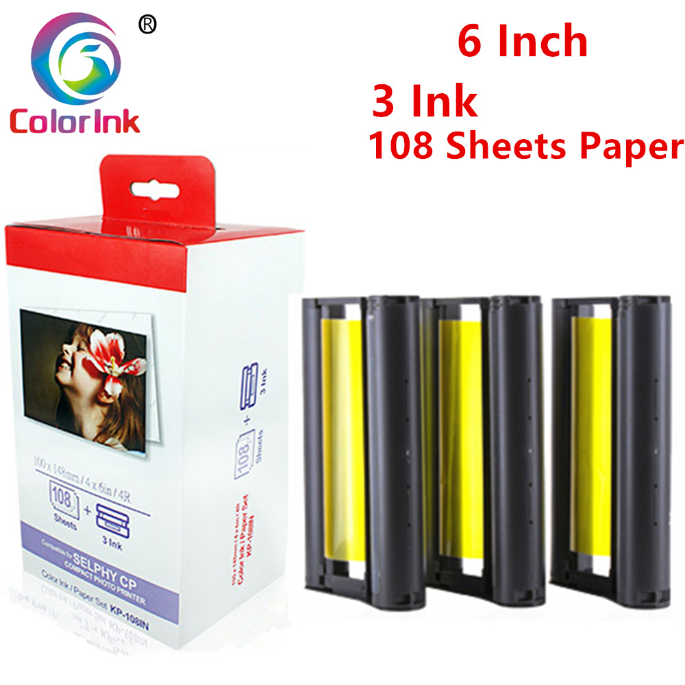 ColorInk Ink Cartridge For Canon Selphy CP Series Photo Printer CP800 CP810 CP820 CP900 CP910 CP1200 CP1300 CP1000 Printer