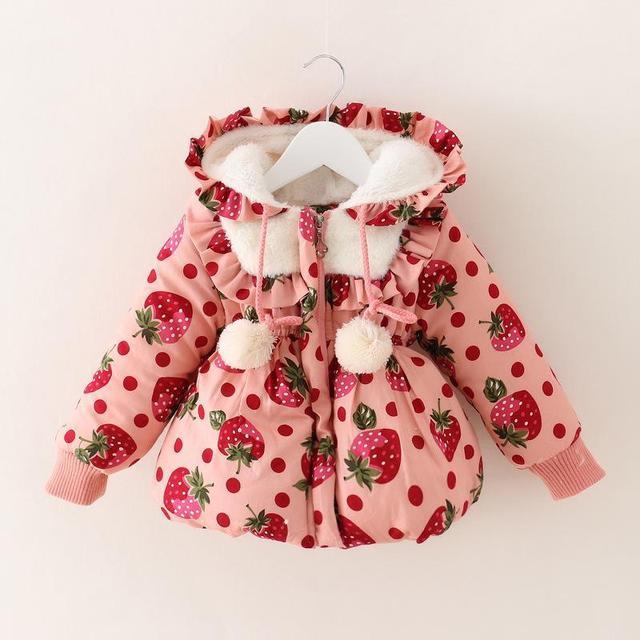 Espesor 2017 niñas abrigo de invierno bebé traje para la nieve infantil niñas nieve desgaste recién nacido traje para la nieve de la nieve del bebé clothing ropa de niña
