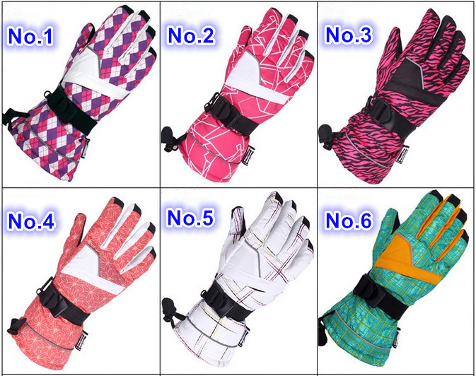 Lovers various ski gloves couples fingered riding snowboard skiing gloves winter outdoor sports gloves skating gloves 30 colors