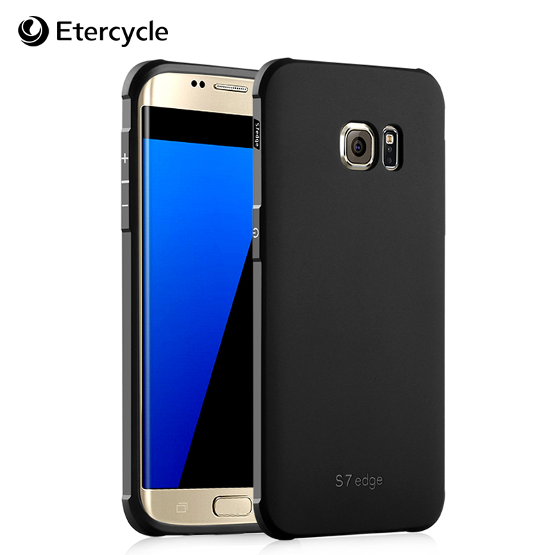 For Sumsung Galaxy S7 Edge Case Luxury Silicon 3D Simple Frosted Shield TPU Cover Compact Anti-knock Protective Cases Covers