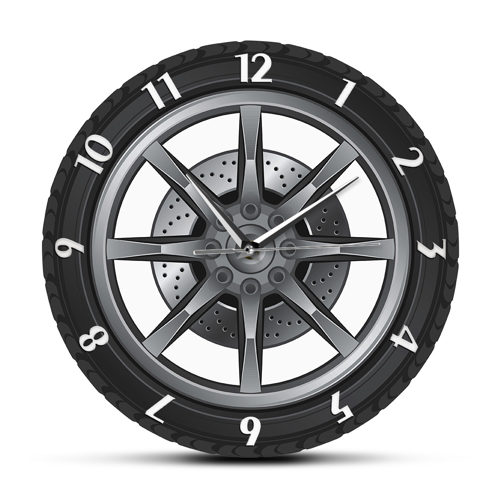 <font><b>Car</b></font> Service Custom Name <font><b>Clock</b></font> Repair Tire <font><b>Wheel</b></font> Vintage Cool Wall <font><b>Clock</b></font> <font><b>Car</b></font> Workshop Mechanic Gift Room Decorative <font><b>Clock</b></font> image