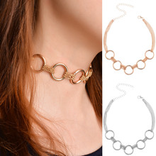 Light luxury simple exaggerated texture Necklace metal multi-layer chain necklace Girls Gift wholesale jewelry