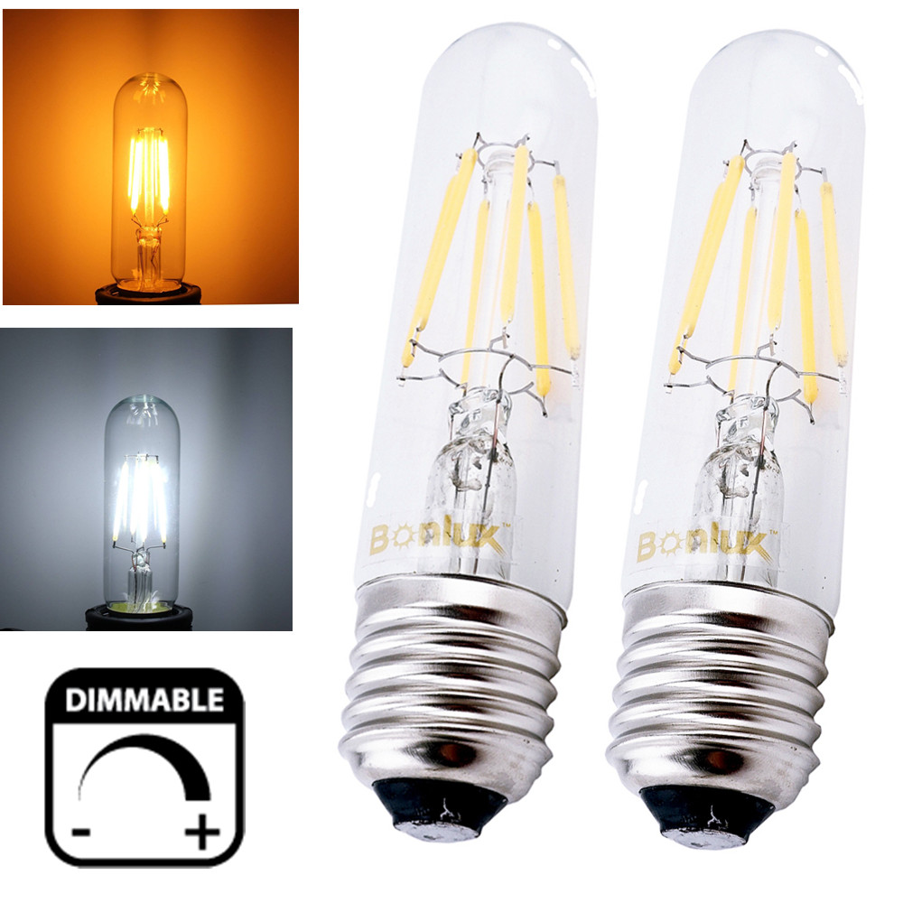Dimmable T10 Tubular LED Filament Light Bulb E26 E27 Vintage Edison Bulb for t10 Incandescent Bulb Replacement