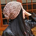 2015 new fashionable leopard women hats autumn and winter women beanies hip hop cotton blend beanie 4 colors free shipping