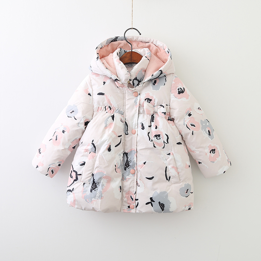baby winter jacket for girls coat flower hooded Kids Parka fashion boutiques children clothes worm