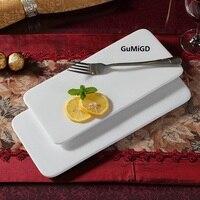 Westlichen stil großhandel backen Affirmative flache keramische geschirr tablett platte rechteckige flache platte Japanischen Sushi Platter