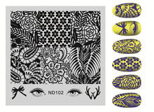 1 PC Floral Patterns Nail Art Stamping Image Plates Stainless Steel Nail Stamp Plate Manicure Stencils Nail Art Stamping Tools