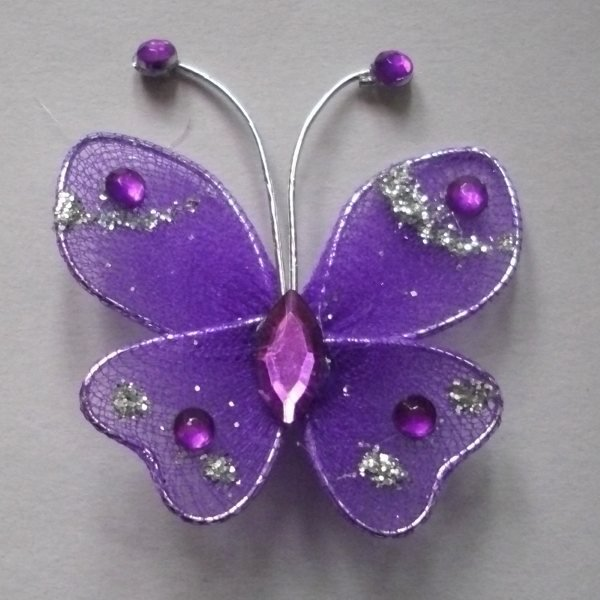 Pcs purple stocking butterfly wedding decorations on