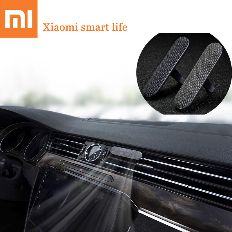 Xiaomi MIJIA G-Uildford Car Exhaust Air Incense Diffuser Eliminate Odor Mijia Intelligent Gas Freshener Plant Extract Perfume car outlet perfume air freshener with thermometer lime