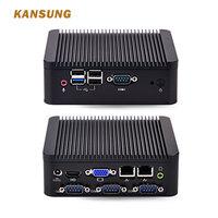 New Cheap 2 Ethernet Lan Fanless Industrial Computer Dual Core Personal Computer J1800 Barebone System 12V Mini PC Win 10 X86