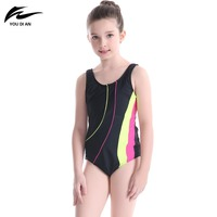 2017 YOUDIAN Summer New Arrival Simwear Kids Children One Piece Sport Swimsuit Girls Hot Sale Breathing