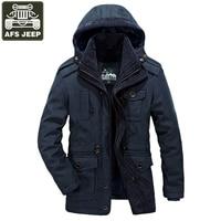 AFS JEEP Brand Winter Men S Down Jacket Thick Warm Windbreaker Fleece Jacket Men Casacas Para