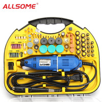 ALLSOME AC 220V Electric Rotary Drill Grinder Engraver Polisher DIY Tool Set HT2398