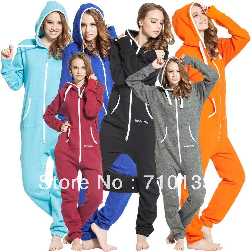 Einteilige overall onesies onezie all-in-one unisex einzigartige zip hoody jump in anzug kosedress