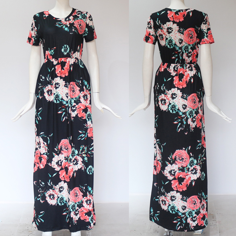19 Summer Long Dress Floral Print Boho Beach Dress Tunic Maxi Dress Women Evening Party Dress Sundress Vestidos de festa XXXL 25