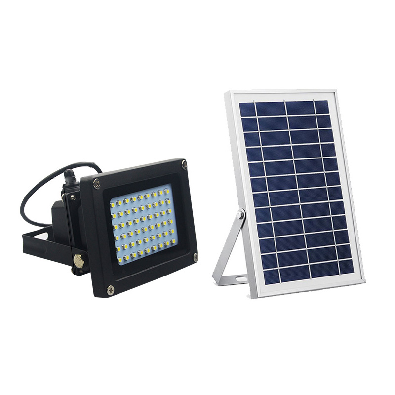 Solar Flood Lights 54 LED 500 Lumens 6W Solar Panel Outdoor Solar Light Waterproof Security Light