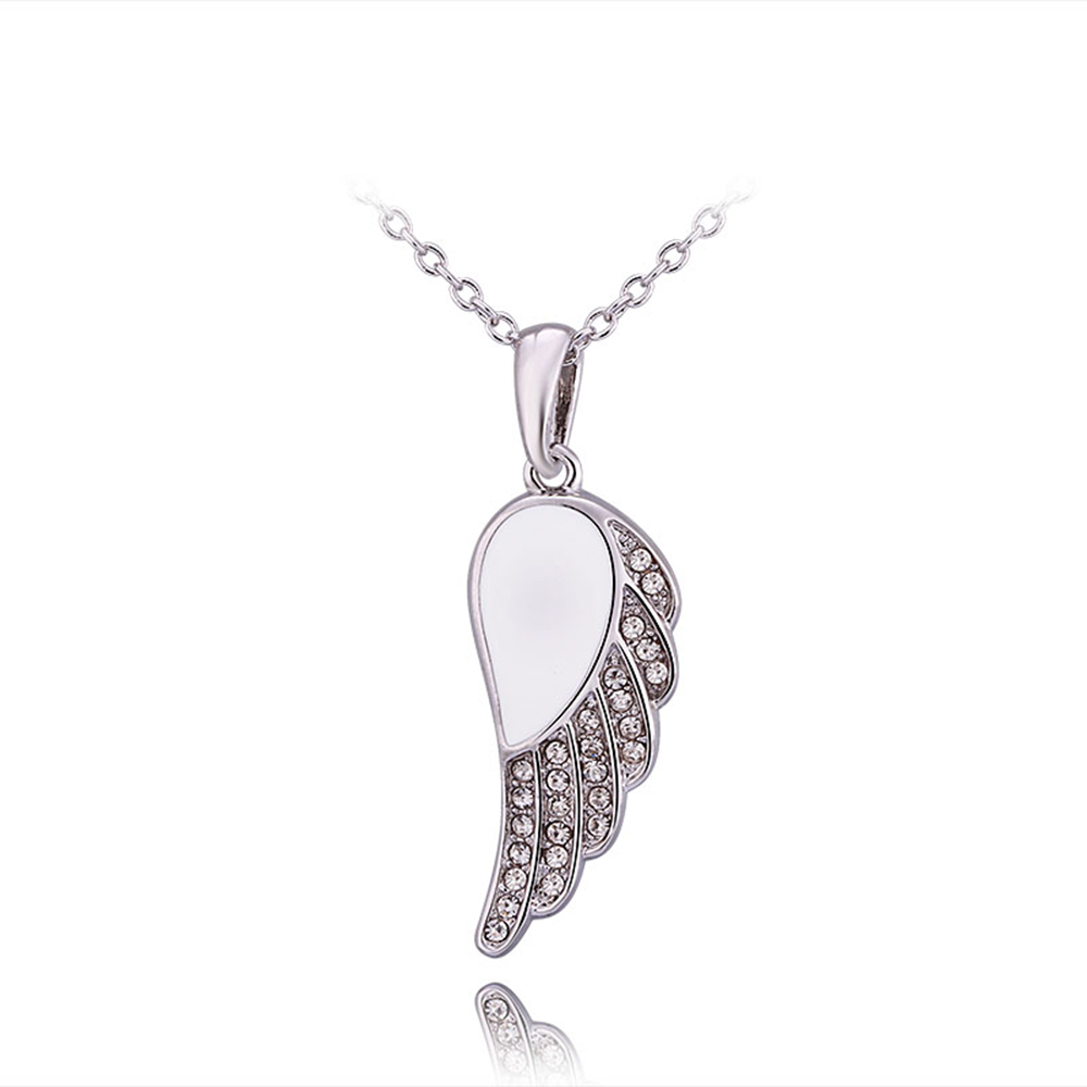White Gold Color Necklaces Pendants Crystal CZ Jewelry