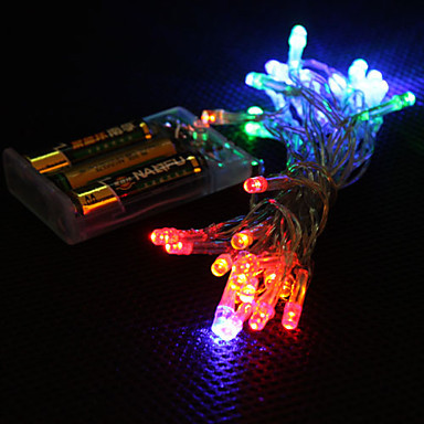rgb 3m 30 battery operated led string light for fairy christmas lights decoration holiday wedding free shipping in led string from lights lighting on
