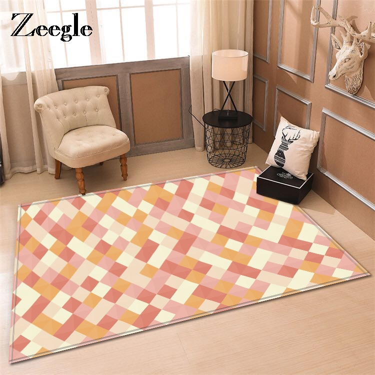 Zeegle Ameircan Style Pattern Absorbent Non-slip Modern Carpet For Living Room Bedroom Soft Kids Room Play Mat Bedroom Area Rugs