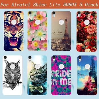 Fashion 14 Patterns Painting Colored Case Cover For Alcatel Shine Lite 5080x 5.0 Cases Phone Sheer Bags image