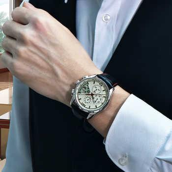 2020 Nwe Men Watch PAGANI DESIGN Luxury Brand Multifunction Men Chronograph Casual Sport Leather Quartz Watch Relogio Masculino