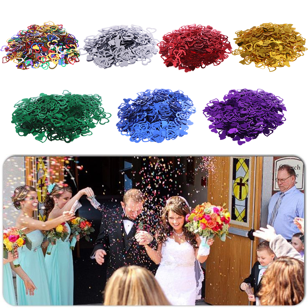 3200pcs multi color 7mm 15mm sparkling love heart wedding for Deco table multicolore