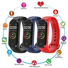 M4 Smart bracelet Heart Rate Monitor Wristband Pedometer Sports smart watch Band PK M3 Health Fitness band