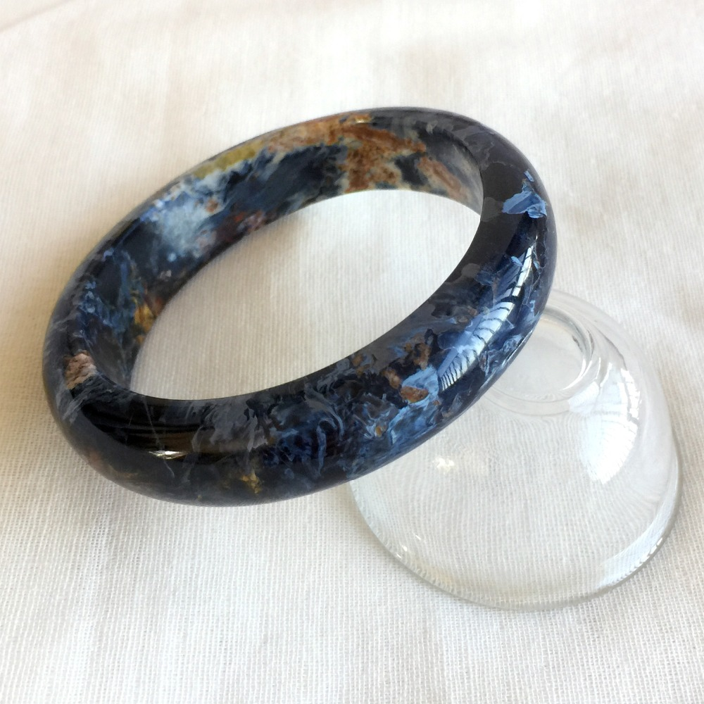 High Quality Genuine Natural Dark Blue Pietersite Namibia Bracelet Bangles 59mm 2.33inch 05210
