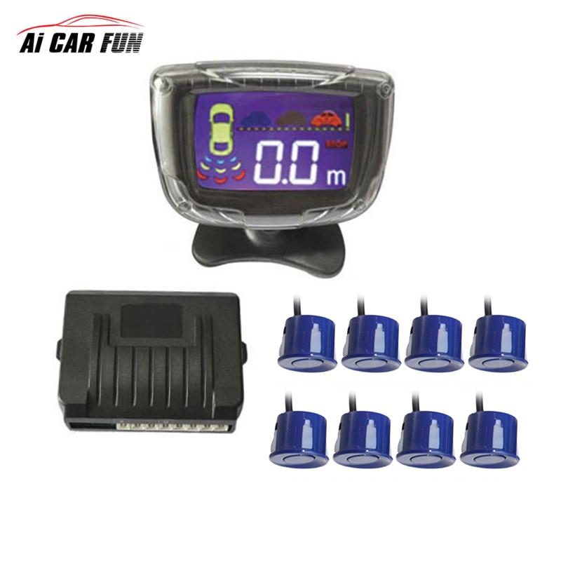 Capteur de stationnement de voiture à vue arrière avant 8 avertisseur sonore pour toutes les voitures détecteur de Radar de recul système de surveillance Assistance Parktronic alerte sonore