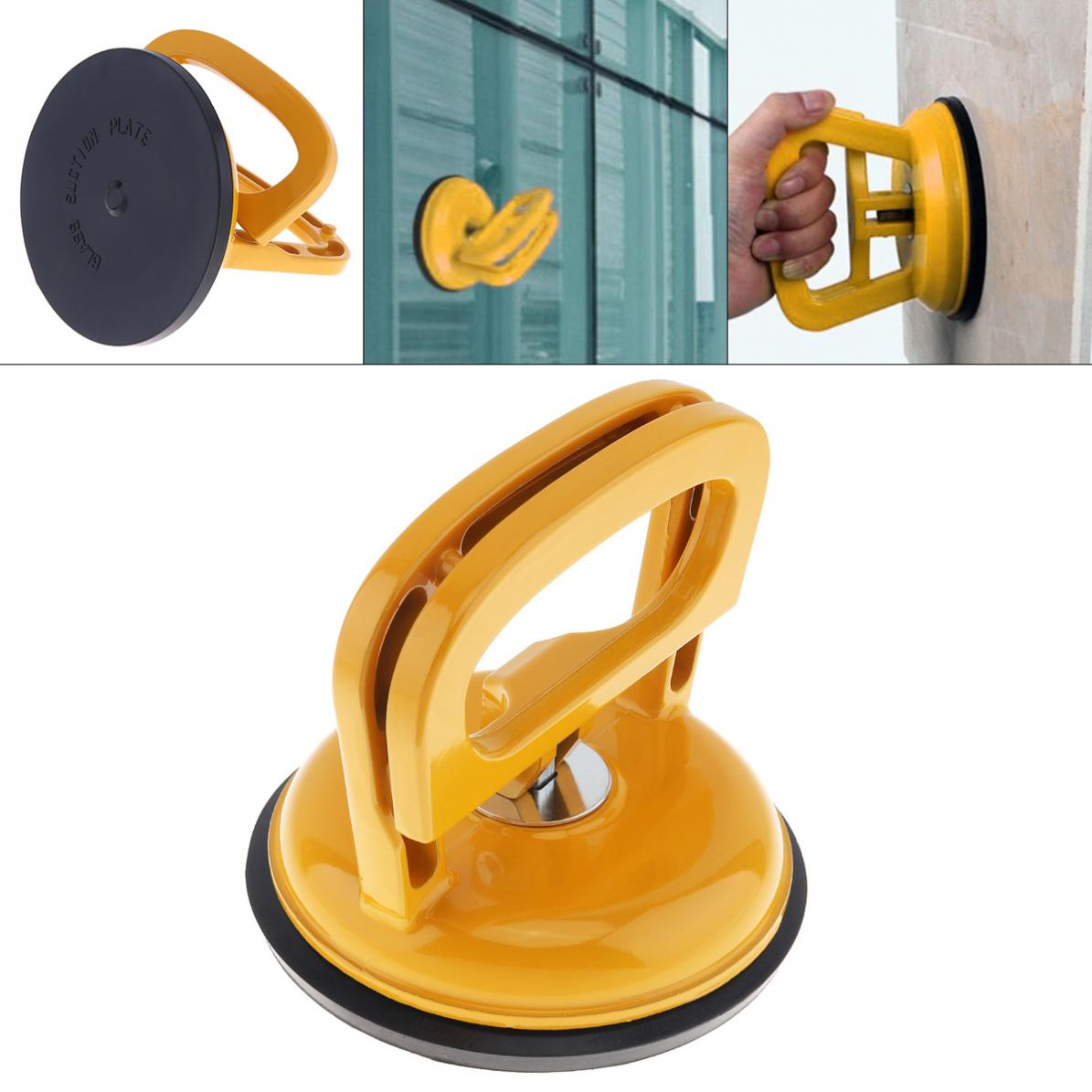 TL-F1 Aluminum Alloy Single Claw Vacuum Sucker with Rubber Suction Pad and 2 Clip Handles for Tiles Glass Lightweight LockingTL-F1 Aluminum Alloy Single Claw Vacuum Sucker with Rubber Suction Pad and 2 Clip Handles for Tiles Glass Lightweight Locking