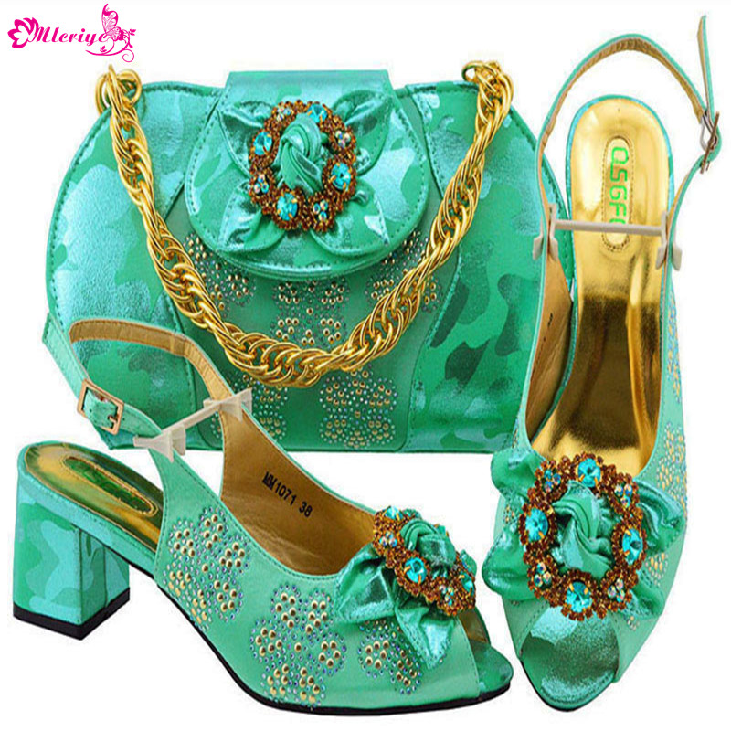 Latest Woman Italian Shoes and Bags Set Italian Matching Shoe and Bag Set for Wedding Nigerian Women Wedding Shoes and Bag Sets latest italian shoes and bags to match set matching bag women summer shoes ladies shoe and bag set for wedding free shipping dhl