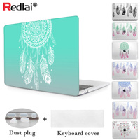 Redlai Dream catcher Feather Pattern Case for Apple Pro 13 with/t Touch bar 2016 Model For Macbook Air 13 Pro retina 13 15 inch