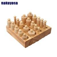 1 3 years Wooden Blocks Montessori teaching aids Early Childhood Intelligence Educational Toys Kids Learning Education Kids Gift