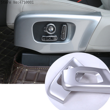 ABS Chrome Car Seat Side Decoration Cover Frame Trim For Land Rover Discovery 5 2017-18  For Range Rover Velar RR Sport 2018