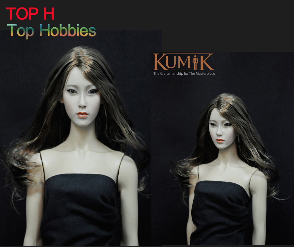 1/6 KUMIK Headplay Figure Head Model Female CG CY Girl 13-16-NP Head Sculpt 12 Action Figure Collection Doll Toys 1 6 scale figure accessories doll female head for 12 action figure doll head shape fit phicne