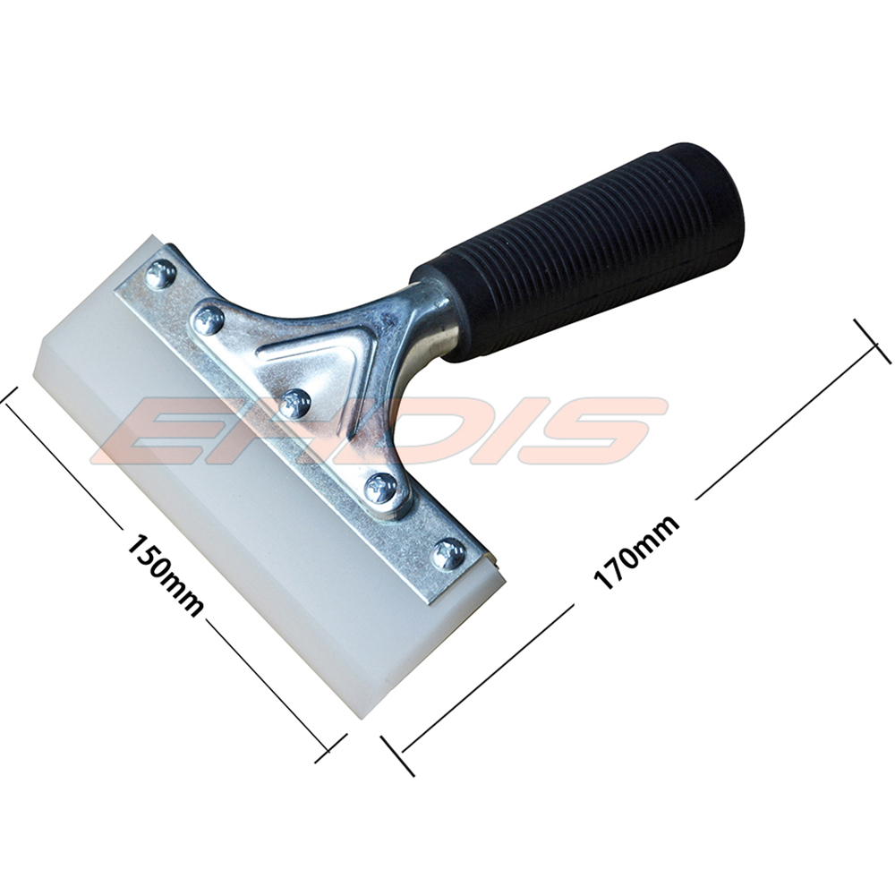 Ehdis 6 Bevelled Blade Pro Squeegee Deluxe Stainless Steel Handle 12v Switching Car Psu By Uc3843 74ls02 Auto Window Cleaner Wrap Film Rubber Tool A95