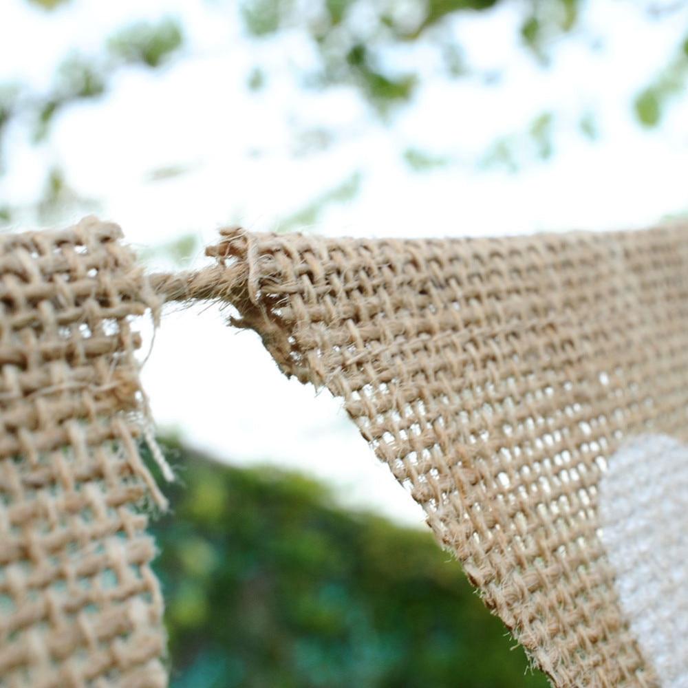 13 stks / set liefde hart jute touw vlas driehoek Banner bruiloft - Feestversiering en feestartikelen - Foto 3